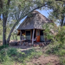 Thatched safari tent