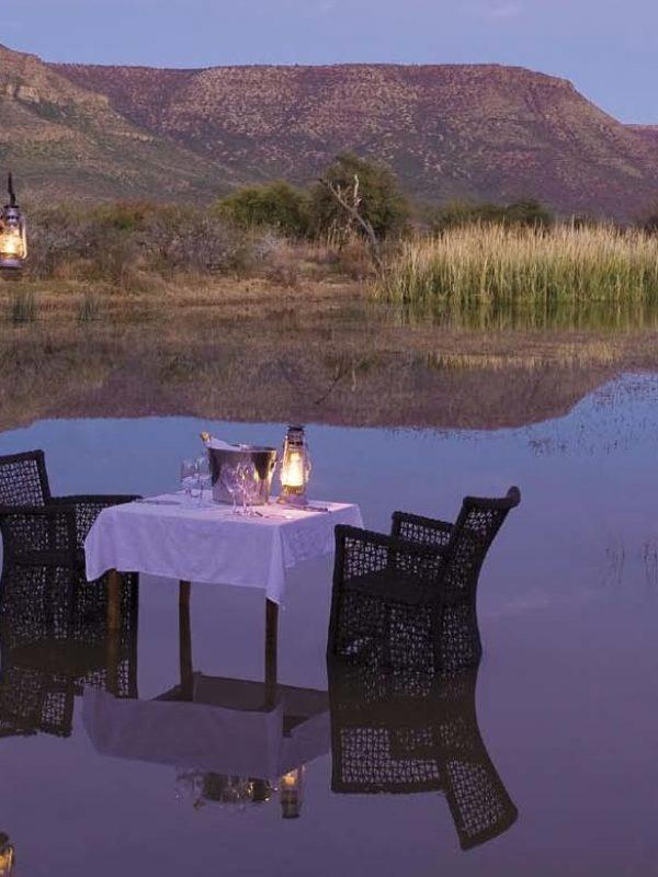 Romantic Karoo dinner